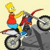 Игра Барт на Мотоцикле