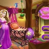 Игра Беременная Рапунцель украшает комнату