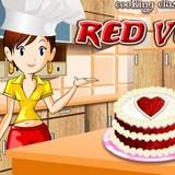 Игра Красный Бархатный Торт: Кухня Сары